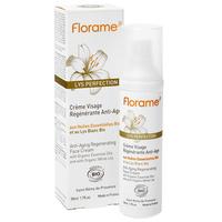 Florame - Crème visage régénérante aux huiles essentielles Bio et lys blanc